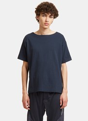Snow Peak Organic Wide Neck T Shirt Navy