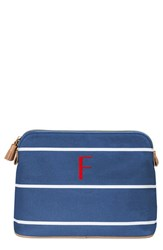 Cathy's Concepts Personalized Cosmetics Case Blue F