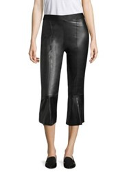Bailey 44 Lupine Eco Leather Crop Trousers Black