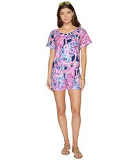 Lilly Pulitzer Dossie Set Pelican Pink Head In The Sand Women's Pajama Sets Multi
