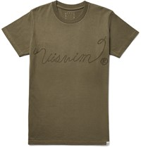 Visvim Printed Cotton Jersey T Shirt Green