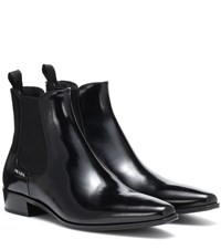 Prada Leather Ankle Boots Black