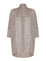 Mela Loves London Mela Short Sleeved Cardigan Beige