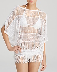 Trina Turk French Lace Swim Cover Up Tunic White