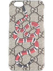 Gucci Snake Print Iphone 6 Case Brown