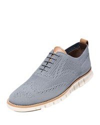Cole Haan Zerogrand Knit Wing Tip Oxford Gray