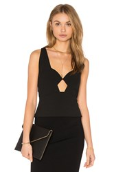 Mason By Michelle Mason Geometric Top Black