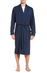 Nordstrom Men's Men's Shop Cotton Blend Robe Navy Mix