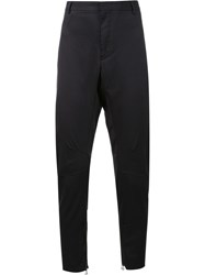 Lanvin Straight Fit Biker Trousers Black