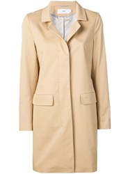 Closed Concealed Front Coat Neutrals