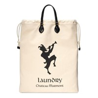 Gucci Drawstring Tote With Chateau Marmont Print Black