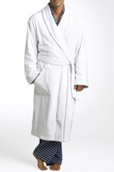 Nordstrom Shawl Collar Velour Robe White