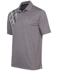 Greg Norman For Tasso Elba Men's Wheeler Argyle Golf Polo Grey