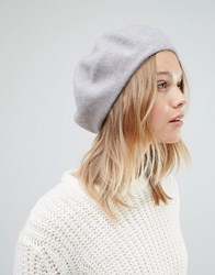 Warehouse Wool Beret Hat Grey