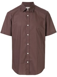 Gieves And Hawkes Short Sleeved Cotton Shirt Orange