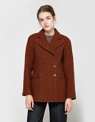 Apiece Apart Short Pea Coat Red