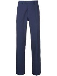 Gieves And Hawkes Textured Tailored Trousers Blue
