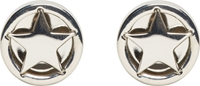 Givenchy Silver Magnetic Star Stud Earrings