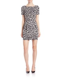 French Connection Leopard Print Sheath Dress Morning Dew