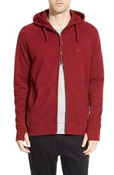 Men's Nike 'Everett' Graphic Zip Front Hoodie Team Red White