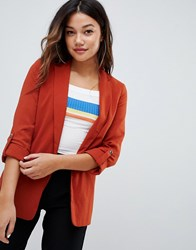 Bershka Blazer In Rust Red