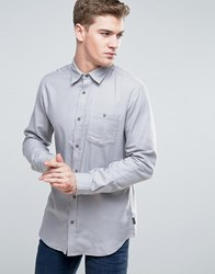 Jack And Jones Originals Denim Shirt With Pocket In Regular Fit L Grey Melange