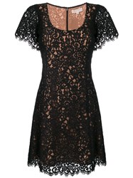 Michael Michael Kors Shortsleeved Lace Dress Black