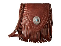 American West Seminole Soft Fringe Crossbody Tobacco Cross Body Handbags Brown