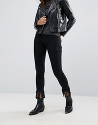 Blank Nyc Crop Skinny Jean With Extreme Unravelling Black