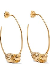 Chan Luu Gold Plated Hoop Earrings One Size