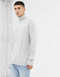 Jack And Jones Premium Knitted Roll Neck White