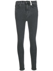 Current Elliott High Waist Skinny Jeans Grey