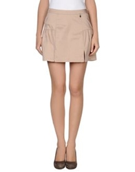 Loiza By Patrizia Pepe Mini Skirts Beige