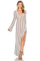 Goddis Tulum Dress In Jamaican Sea Taupe