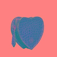 Maxwell Scott Bags Heart Shaped Croco Leather Coin Purse