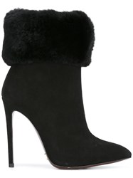 Gianni Renzi Stiletto Pointed Ankle Boots Black