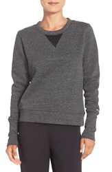 Alo Yoga Women's Alo 'Downtown' Long Sleeve Top Charcoal Heather Black