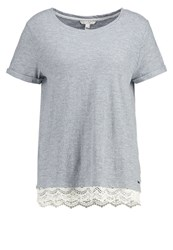 Tom Tailor Denim Print Tshirt Cement Grey Melange Mottled Light Grey