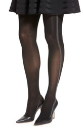Elie Tahari Triple Side Stripe Control Top Tights Black