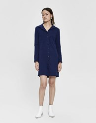 Which We Want Evelina Collared T Shirt Dress In Blue