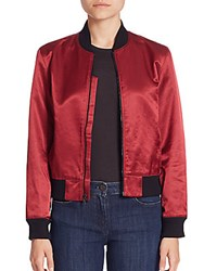 Peserico Satin Collection Bomber Jacket Red