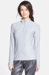 The North Face Women's 'Motivation' Quarter Zip Pullover Monument Grey Heather