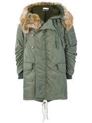 Faith Connexion Classic Parka Coat Unisex Acrylic Polyamide Polyester Virgin Wool M Green