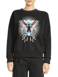 Maje Butterfly Graphic Sweatshirt Black