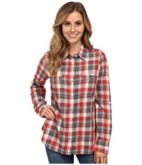 Aventura Clothing Dylan Long Sleeve Shirt Chipotle Women's Long Sleeve Button Up Burgundy