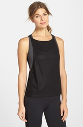 Solow Coated Rib Knit Tank Black