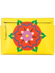 Loewe Printed Zip Pouch Yellow Orange