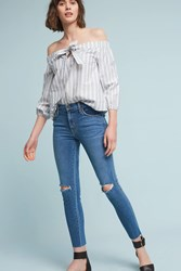 Anthropologie James Jeans Twiggy Mid Rise Skinny Ankle Petite Jeans Denim Light