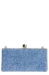 Jimmy Choo Celeste Shadow Coarse Glitter Frame Clutch