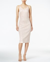 Bar Iii Metallic Slip Dress Only At Macy's Ballet Pink
